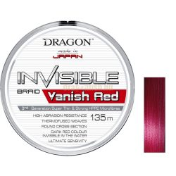 DRAGON Invisible VANISH RED 135m Fonott Zsinór