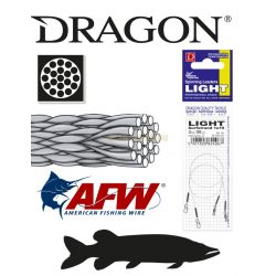 DRAGON 1x19 LIGHT Surfstrand fém előke 3kg 20cm