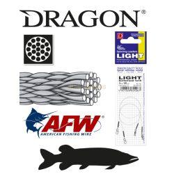 DRAGON 1x19 LIGHT Surfstrand fém előke 3kg 20cm