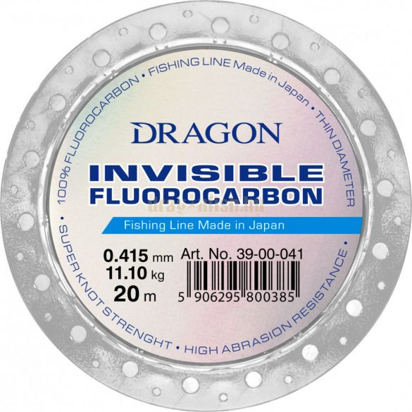 DRAGON invisible Fluorocarbon CLASSIC 20m 0,385mm 9,45kg